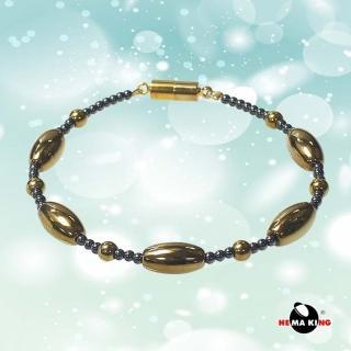 【HEMAKING】金色橢圓珠磁石手鍊