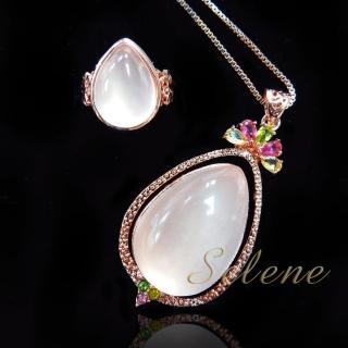 【Selene 珠寶】精緻粉晶招貴人墜鍊