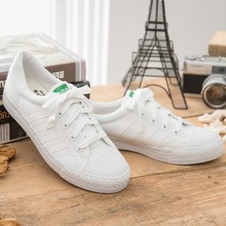 【中國強】MIT 經典休閒帆布鞋CH81(白)