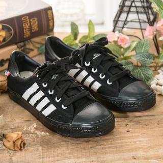 【中國強】中國強 MIT 經典休閒帆布鞋CH89(黑白)
