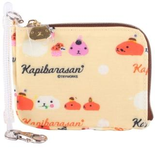 【kapibarasa】水豚君甜點系列車票夾掛包(黃色)
