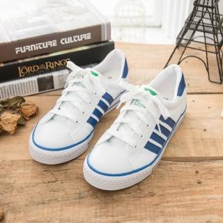【中國強】MIT 經典休閒帆布鞋CH81(白藍)
