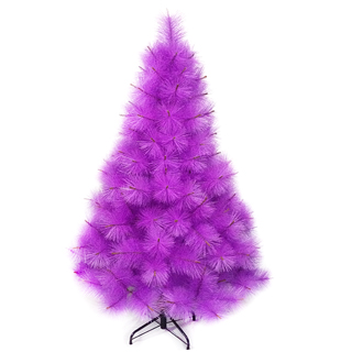 【聖誕樹】台灣製6尺/6呎180cm特級紫色松針葉聖誕樹裸樹-不含飾品-不含燈(.)