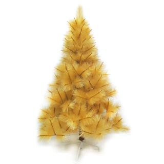 【聖誕樹】台灣製4尺/4呎120cm特級金色松針葉聖誕樹裸樹-不含飾品-不含燈(.)
