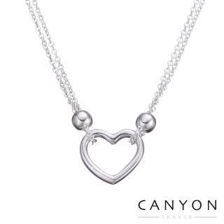 【CANYON】CANYON甜美雙串細鍊愛心項鍊