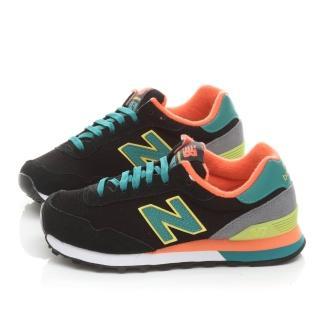 【NewBalance】女款 麂皮復古輕量運動鞋(WL515BO-黑橘)
