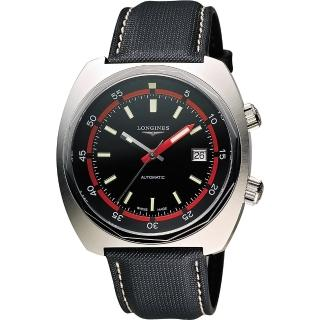 【LONGINES】Heritage Diver 300米潛水機械腕錶-黑(L27954520)
