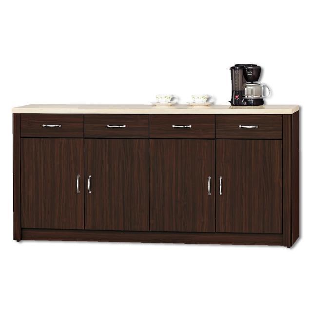【顛覆設計】卡里胡桃色5.3尺仿石面餐櫃下座