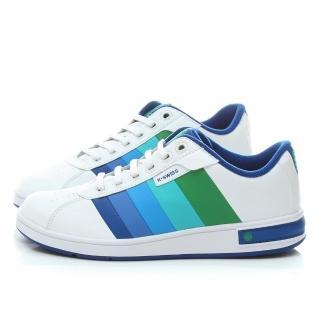【K-SWISS】男款 漸層休閒鞋(01368-121-白藍)
