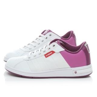 【K-SWISS】女款 復古休閒鞋(91368-132-白紫)