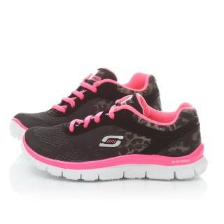 【SKECHERS】中大童 輕量運動鞋(81891LBKNP-黑桃)