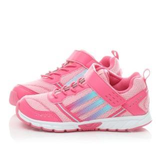 【Adidas】中大童 超輕量魔鬼氈運動鞋(M20411-桃粉)