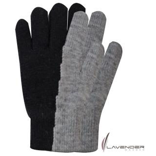 【Lavender】雙手雙層手套(灰黑)