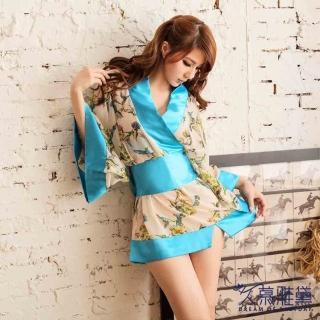 【久慕雅黛】日式和服開襟浴袍性感套裝 角色扮演情趣睡袍誘惑內衣