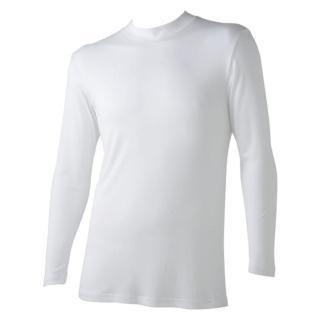 【Gunze日本郡是】保暖發熱衣 小立領 白色(MH0410-WHT)