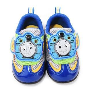 【童鞋城堡】湯瑪士 中童 魔鬼氈電燈運動鞋(TH86054-藍)