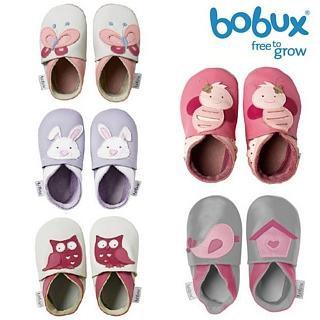 【紐西蘭 Bobux】真皮學步鞋 Soft Sole系列 - 甜美動物系列