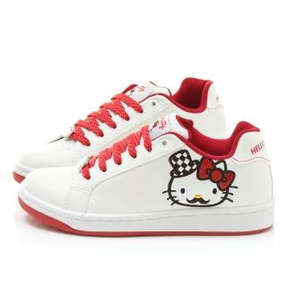 【三麗鷗】Hello Kitty 女款 限量翹鬍子KITTY帆布鞋(914152-白)
