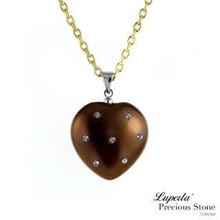 【大東山珠寶】巧克力甜心派對貝寶珠愛心長項鍊