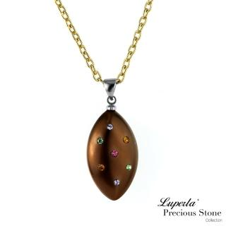 【大東山珠寶】巧克力甜心派對貝寶珠馬眼長項鍊