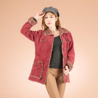 【雪莉亞】超燒內刷長毛條絨長版外套(紅色原價1380特價899再折300)