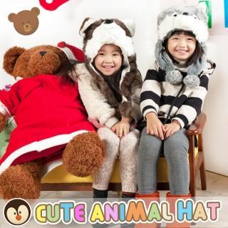 【UHO】動物帽 總動員 造型帽 保暖帽 兒童帽