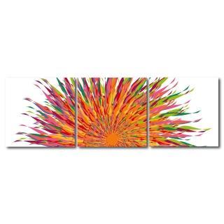 【123點點貼】三聯式藝術創意無痕壁貼(J40160)