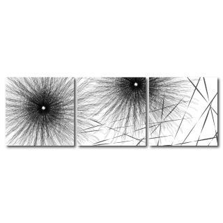 【123點點貼】三聯式藝術創意無痕壁貼(J40176)