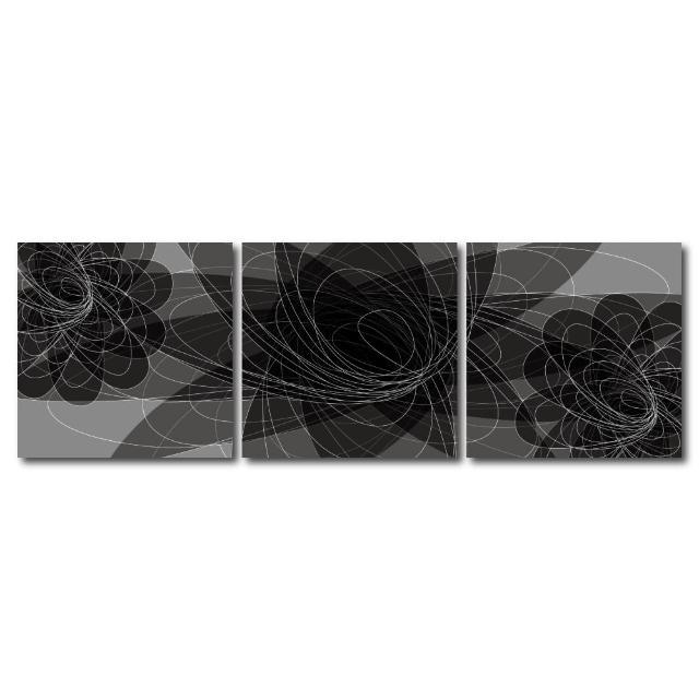 【123點點貼】三聯式藝術創意無痕壁貼(J40208)