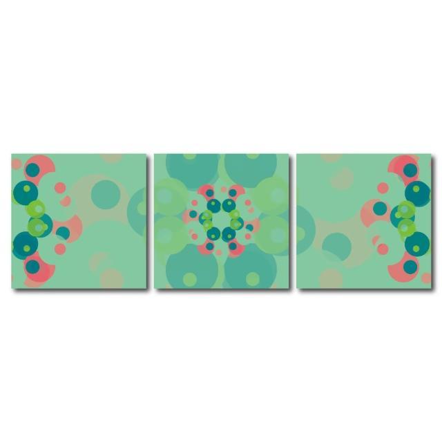 【123點點貼】三聯式藝術創意無痕壁貼(J40211)