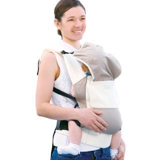 【日本Eightex】COALATTE腰帶型二用式背巾(經典米)
