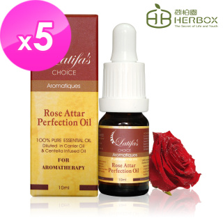 【Herbox 荷柏園】艾塔玫瑰賦活精華油 10ml(五瓶精華組)
