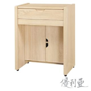 【優利亞-田園風情】2尺掀鏡化妝台+鐵椅(2色)