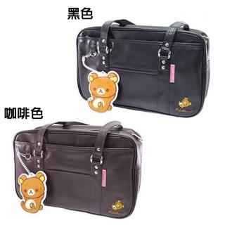 【San-X】拉拉熊皮革日系學生包(兩色款)