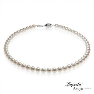 【大東山珠寶】日本Akoya海水珍珠項鍊耳環套組-純潔與永恆7.5-8mm