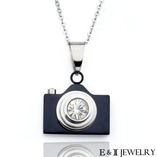 【E&I】-愛的光圈- 316L白鋼相機造型項鍊