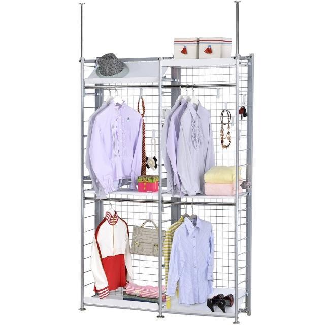 【巴塞隆納】K33型伸縮屏風衣櫥架展示架置物架
