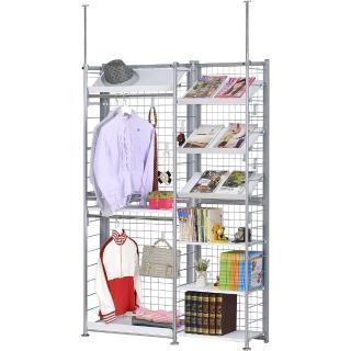【巴塞隆納】K63型伸縮屏風衣櫥架展示架置物架