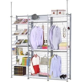 【巴塞隆納】K633型伸縮屏風衣櫥架展示架置物架