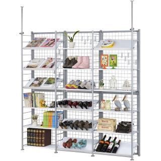 【巴塞隆納】K666型伸縮屏風衣櫥架展示架置物架