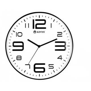 【KINYO】14吋簡約浮雕靜音掛鐘(CL-141)
