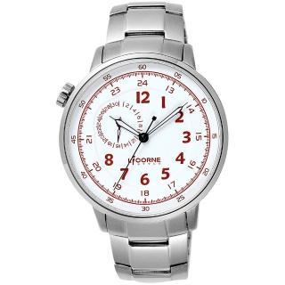 【LICORNE】驚險時刻腕錶-白x銀(LI036MWWI)
