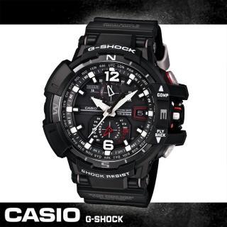 【CASIO 卡西歐 電波錶】旗鑑款-太陽能電波飛行錶(GW-A1100)