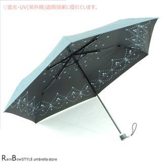 【RainBow】臻典玫瑰-超輕抗UV傘晴雨傘防風傘(晴空藍)