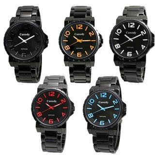 【CANODY】炫黑時尚彩色數字腕錶(黑-42mm-GM2592-A)