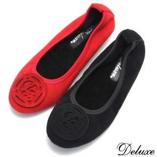 【Deluxe】包頭娃娃鞋(暖呼呼羊毛內裡 黑)