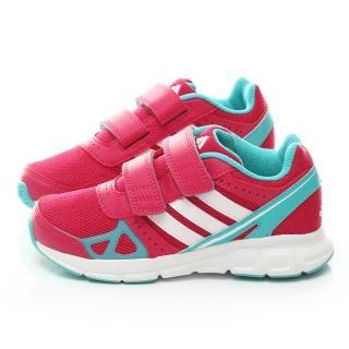 【Adidas】中大童 魔鬼氈輕量運動鞋(M20343-桃)
