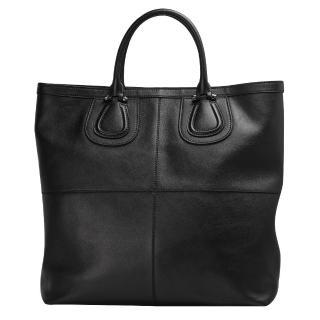 【GIVENCHY】GIVENCHYLOGO壓紋小羊皮直立手提包(14M5040015-001 黑)