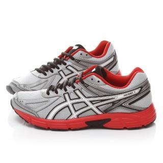 【Asics】男款 PATRIOT 7 慢跑鞋(T4D1N-9301-灰紅)