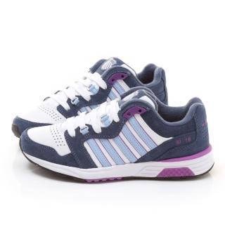 【K-SWISS】女款 RANNELL 2 LS 復刻慢跑鞋(93267-139-藍紫)